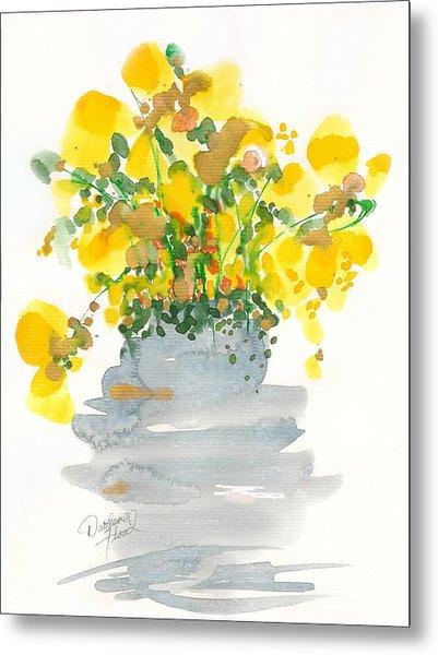 Yellow Blossoms Metal Print