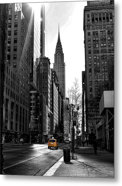 Yellow Cab Metal Print by Bennie Reynolds