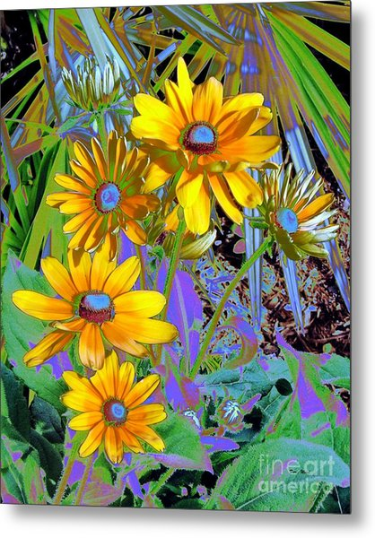 Yellow Daisies Metal Print by Doris Wood
