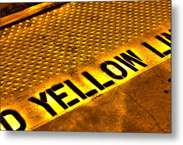 Yellow Metal Print by Jeffrey Auger
