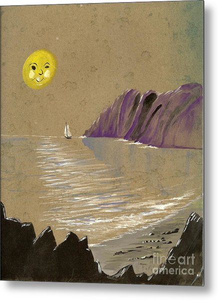 Yellow Moon Watch Metal Print