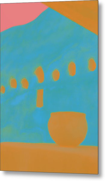 Yellow Pot Metal Print
