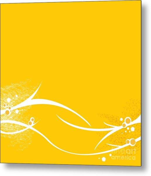 Yellow Twigs Metal Print