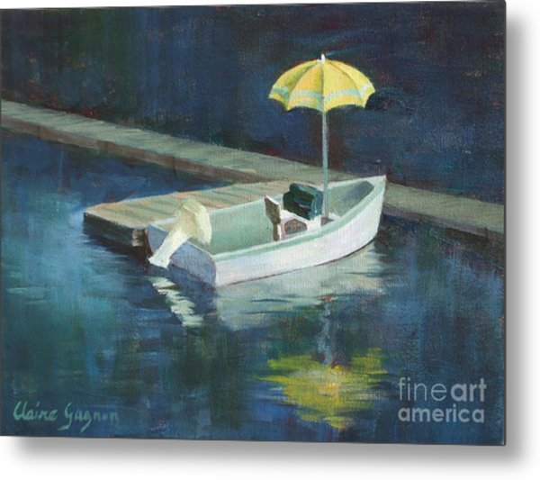 Yellow Umbrella Metal Print