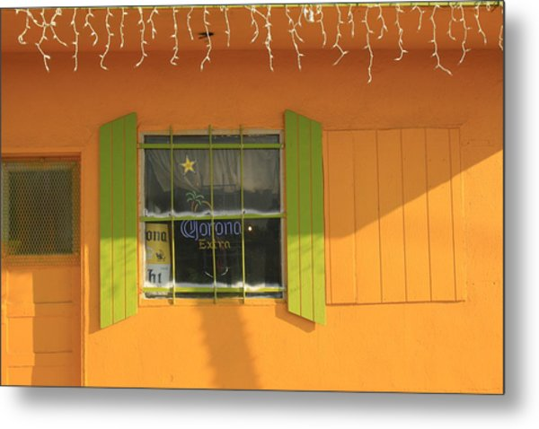Yellow Window Metal Print