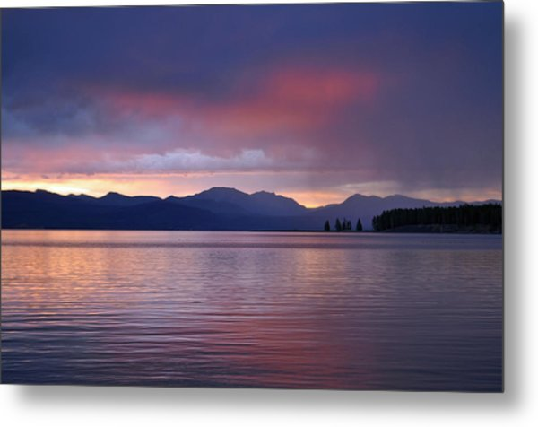 Yellowstone Lake Sunrise IIi Metal Print