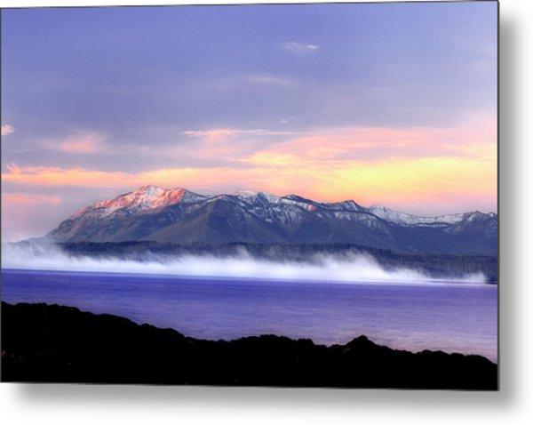 Yellowstone Lake Sunrise Metal Print by Tony Gayhart