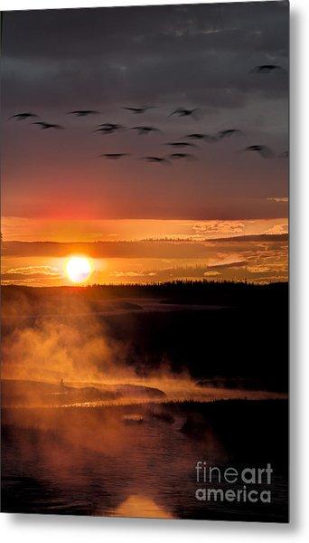 Yellowstone Sunrise Metal Print by Eli Horowitz