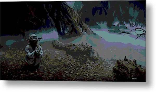 Yoda In Meditation Metal Print