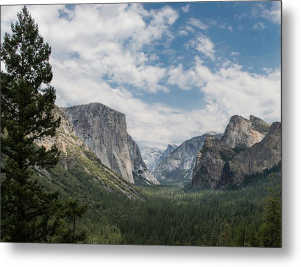 Yosemite Valley From Tunnel View At Yosemite Np Metal Print
