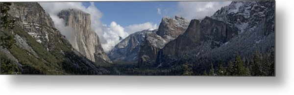 Yosemite Valley Panoramic From Tunnel View Metal Print by Joseph Wilson