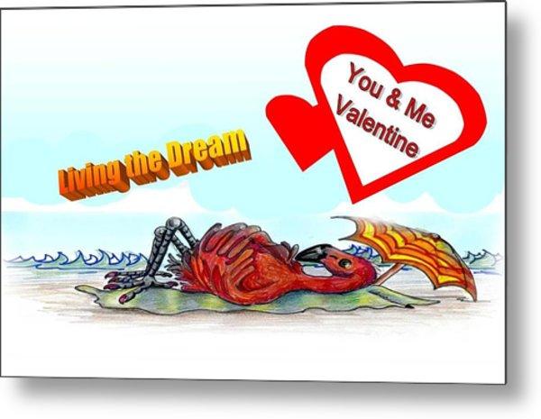 You And Me Valentine Metal Print by Carol Allen Anfinsen