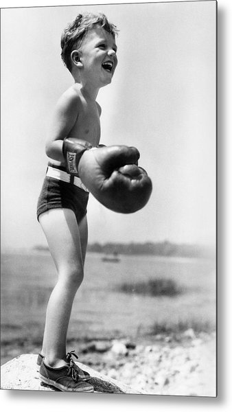 Young Boxer Metal Print by Doris Day
