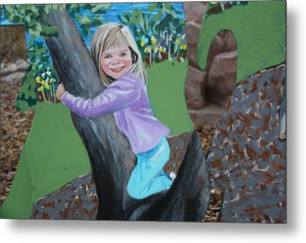 Young Girl In Summer Metal Print