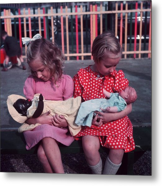 Young Mothers Metal Print by Keystone