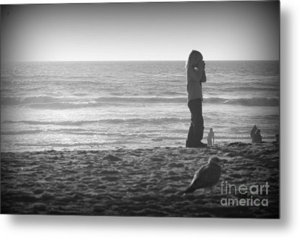 Young Professional Photographer Metal Print by Trude Janssen