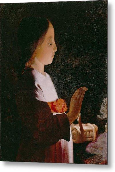 Young Virgin Mary Metal Print