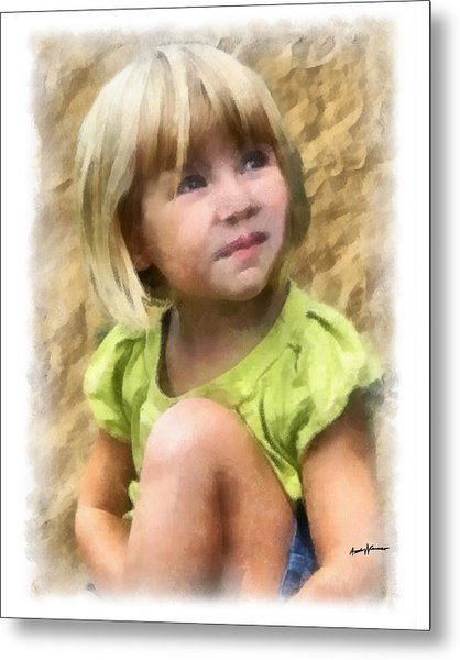 Youngest Daughter Metal Print by Anthony Caruso