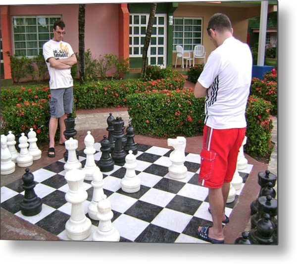 Your Move Metal Print by Laurel Fredericks