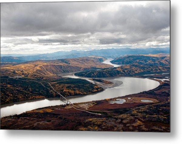 Yukon River Bridge Metal Print