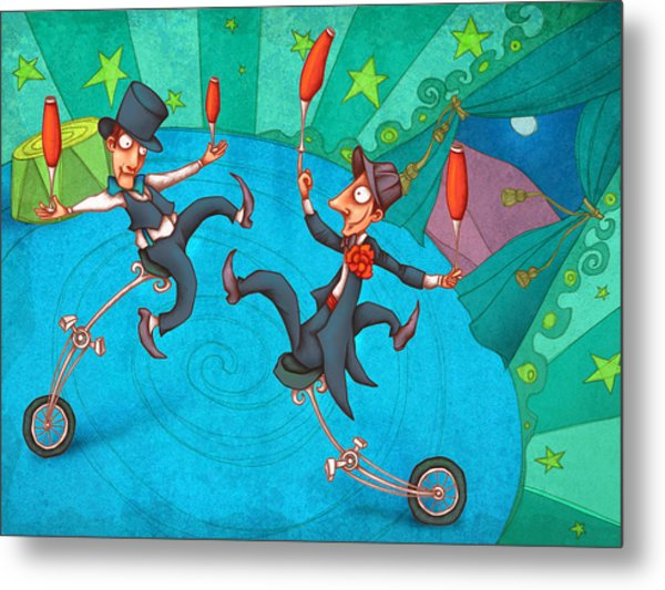 Zanzzini Brothers Metal Print by Autogiro Illustration