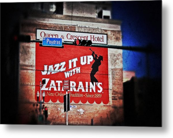 Zatarain's Building Sign Metal Print