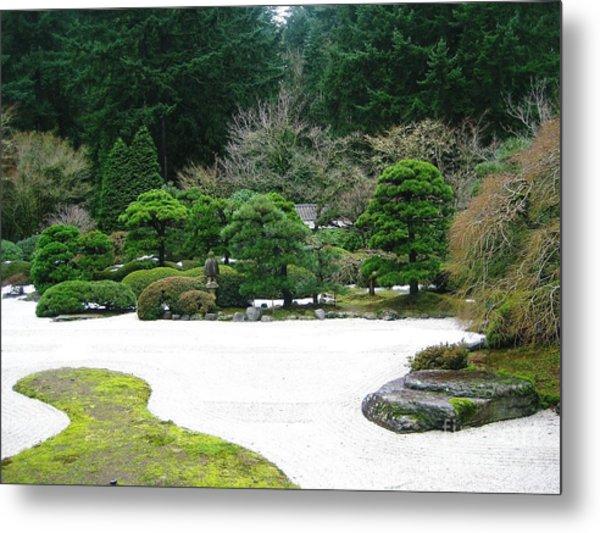 Zen Garden Metal Print by Melissa Stinson-Borg