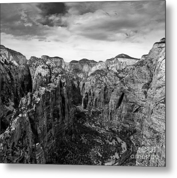 Zion National Park - View From Angels Landing Metal Print
