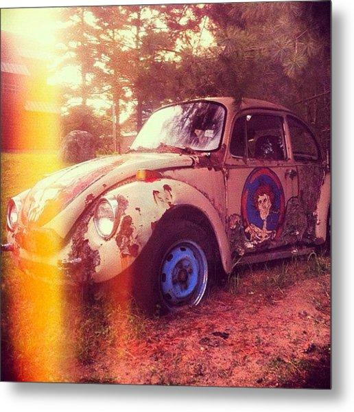 #zombiecar #vw #volkswagen #bug Metal Print