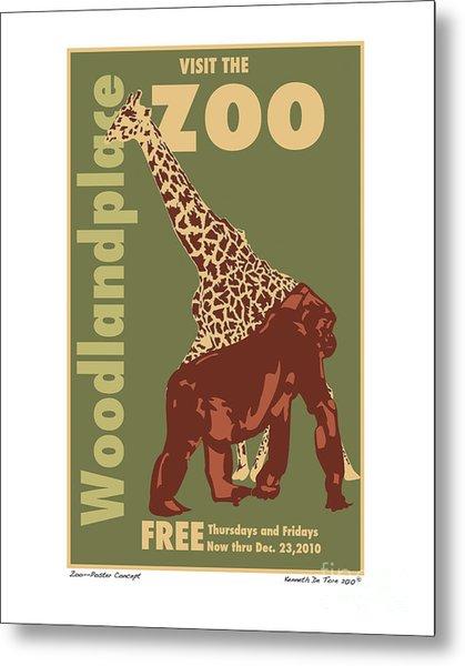 Zoo Poster Metal Print