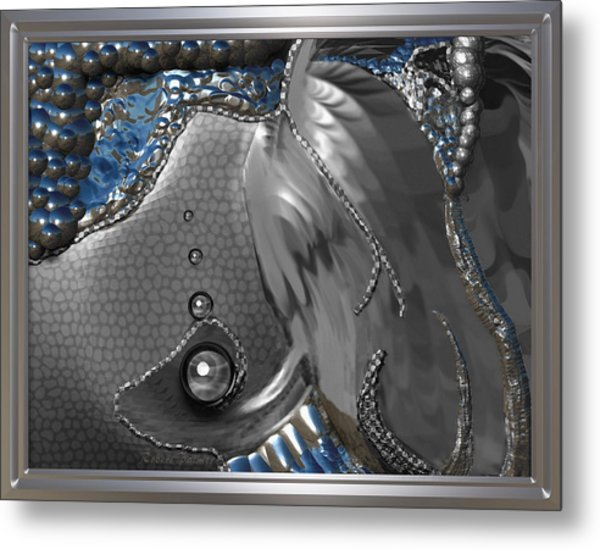 ' Fish Out Of Water ' Metal Print