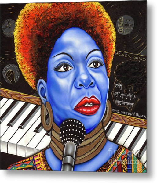 A Part Of Nina Simone Metal Print by Nannette Harris