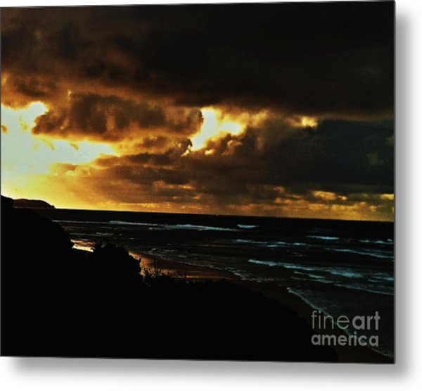 A Stormy Sunrise Metal Print
