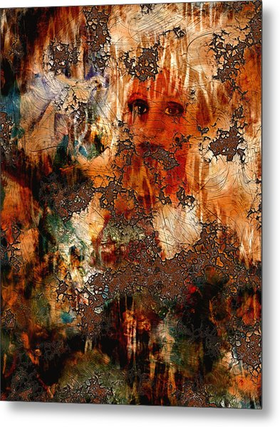 Abstract Woman And Dove Metal Print by Patricia Motley