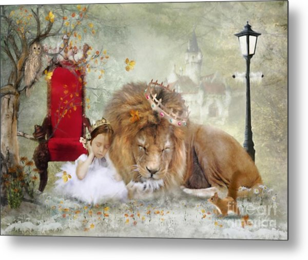 ..... And She Sleeps Metal Print