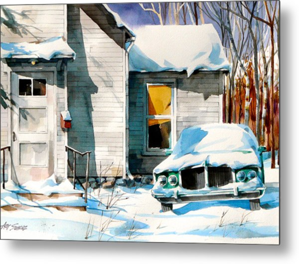 Another Snow Day Metal Print by Art Scholz