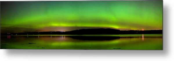 Aurora Over The Beauly Firth Metal Print