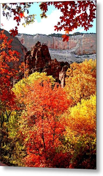 Autumn In Zion Metal Print