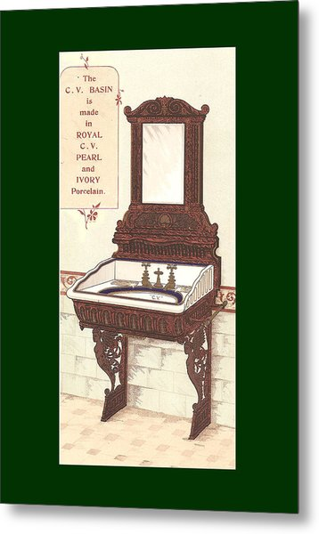 Bathroom Picture Wash Stand Two Metal Print