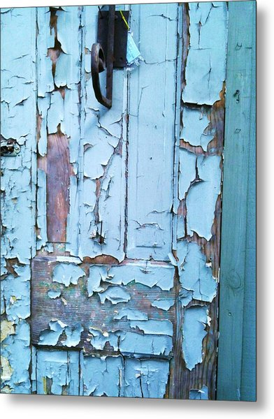 Blue Door In The Old South Metal Print