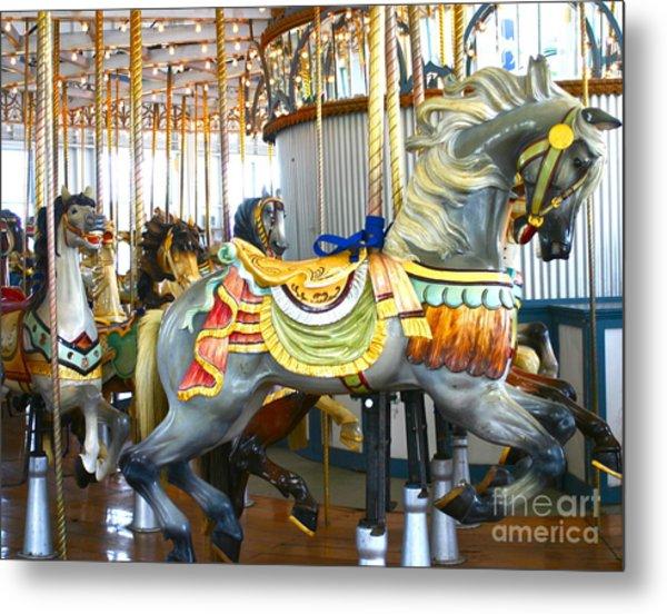 Carousel C Metal Print