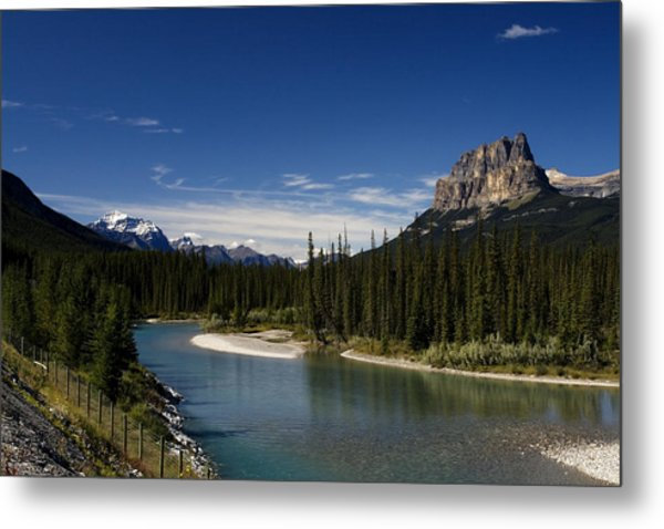 Castle Mountain 1 Metal Print