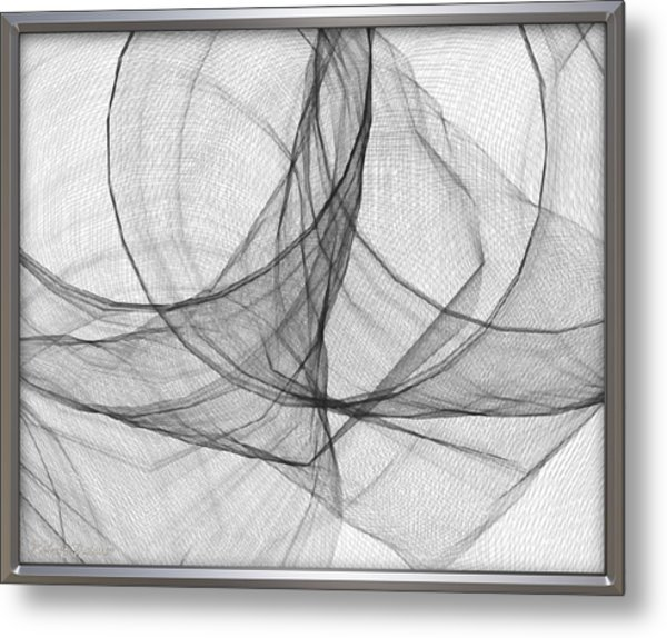 ' Caught In The Gauze Of Life ' Metal Print