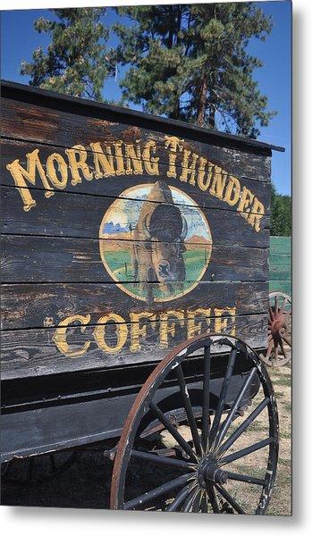 Coffee Wagon Metal Print by Brent Easley