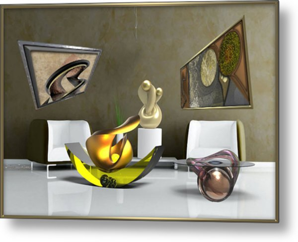 ' Cubrssrs - Tubehumanseedlings - Ball Box Intrigue - Kyscopic Table - Pearl ' Metal Print