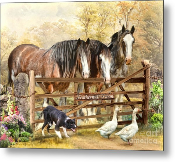 Featherwell Farm Metal Print