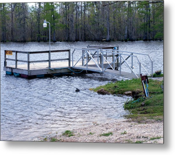 Fishing Boat Dock  Metal Print by Bill Perry