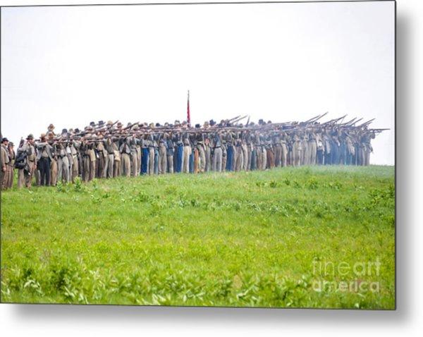 Gettysburg Confederate Infantry 0157c Metal Print