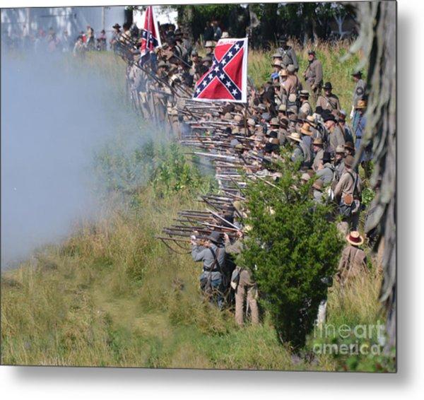 Gettysburg Confederate Infantry 8769c Metal Print
