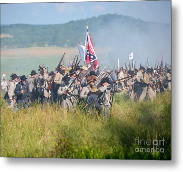 Gettysburg Confederate Infantry 9214c Metal Print